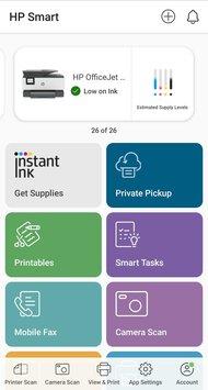 HP OfficeJet Pro 9015e App Printscreen