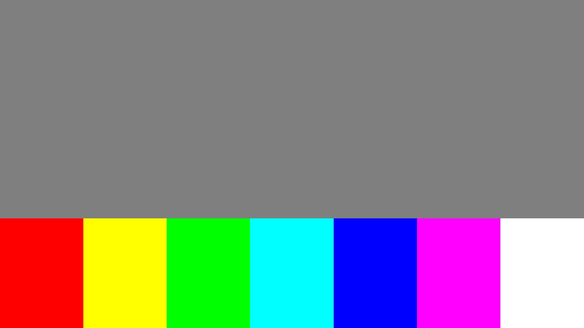 Bottom side color bleed test pattern