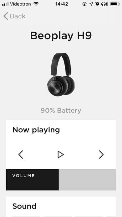 B&O PLAY Beoplay H9 Wireless App Picture