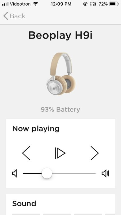 B&O PLAY Beoplay H9i Wireless App Picture