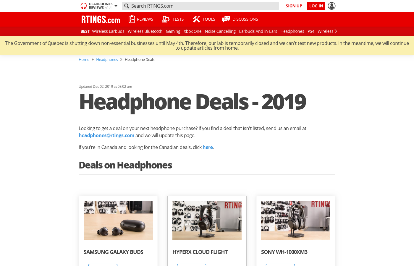 Black Friday Headphone Deals