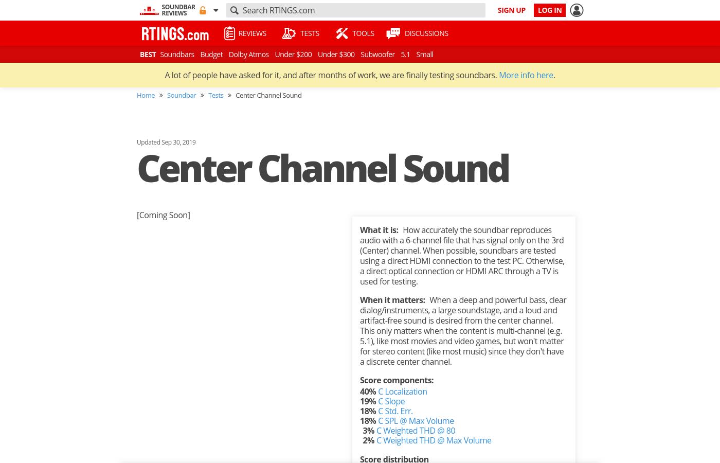 Center Channel Sound