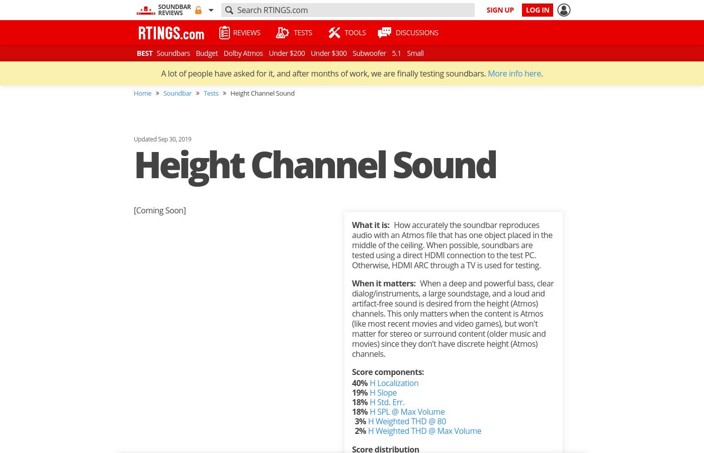 Height Channel Sound