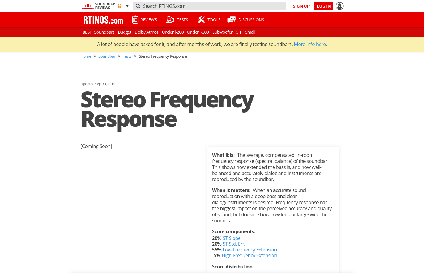 Stereo Frequency Response