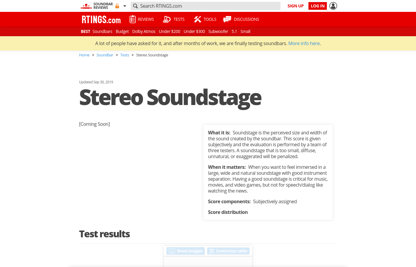 Stereo Soundstage
