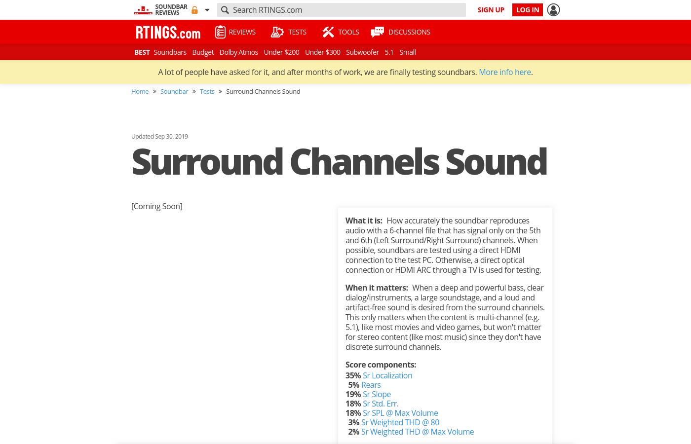 Surround Channels Sound