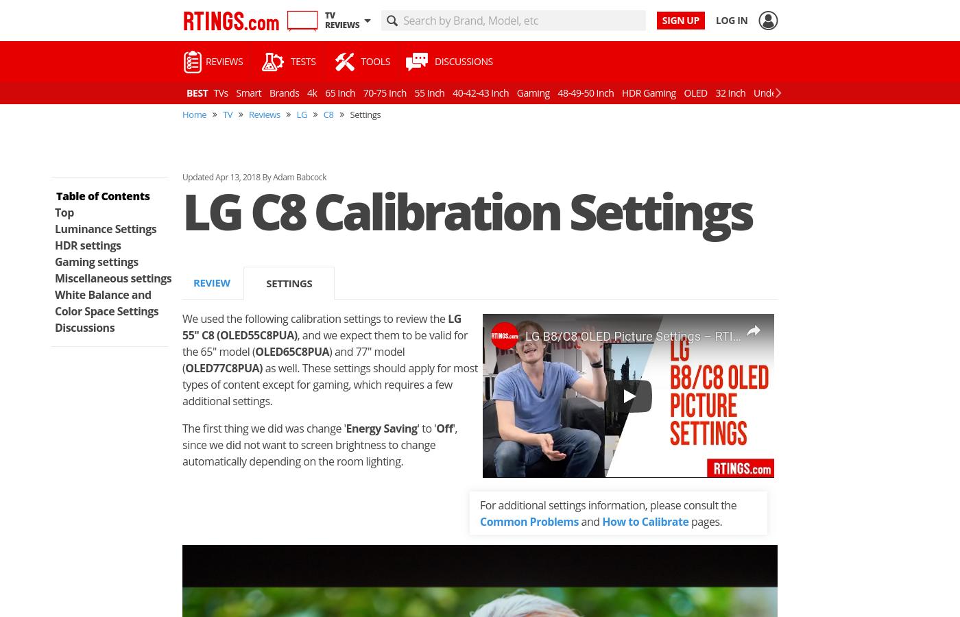 Lg C8 Series 4k Oled Tv 65