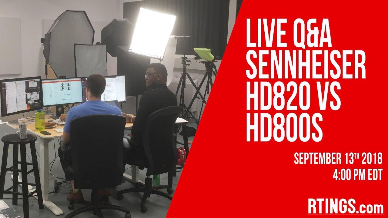 Video: Live Q&A Sennheiser HD 820 vs HD 800S Headphones at 4:00PM EDT